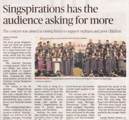 SINGSPIRATIONS has the audience asking for more